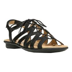 Women's Naturalizer Whimsy Gladiator Sandal Black Hispacho Leather/Printed Snake PU