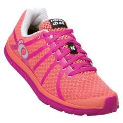 Women's Pearl Izumi EM Road N 1 v2 Running Shoe Living Coral/Rose Violet