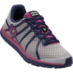 Women's Pearl Izumi EM Road N 1 v2 Running Shoe Silver/Deep Indigo