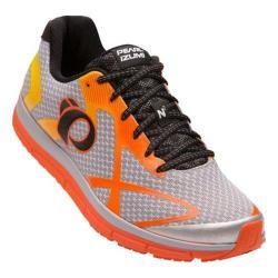Men's Pearl Izumi EM Road N 2 v3 Running Shoe Silver/Red Orange