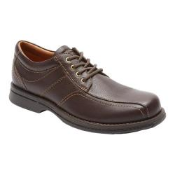 Men's Rockport Classics Revised Bike Toe Brown Tumbled Pull Up Leather