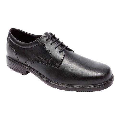 Men's Rockport DresSports Luxe Plain Toe Oxford Black Leather