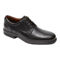 Men's Rockport Dressports Luxe Apron Toe Oxford Black Leather