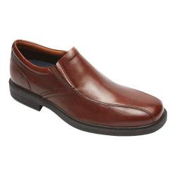 Men's Rockport Dressports Luxe Bike Toe Slip On New Brown Leather