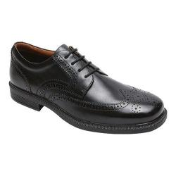 Men's Rockport DresSports Luxe Wingtip Oxford Black Leather