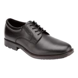 Men's Rockport Essential Details Waterproof Plain Toe Black Full Grain Leather