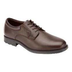 Men's Rockport Essential Details Waterproof Plain Toe Dark Brown Full Grain Leather