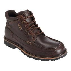 Men's Rockport Gentlemen's Boot Waterproof Moc Toe Mid Cocoa Leather