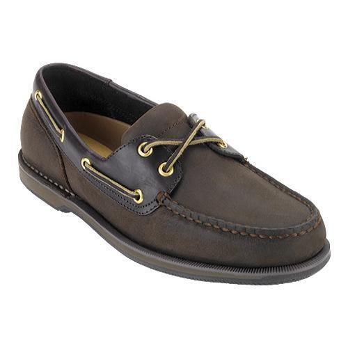 Men's Rockport Perth Boat Shoe, Size: 11 XW, Chocolate/Bark Nubuck