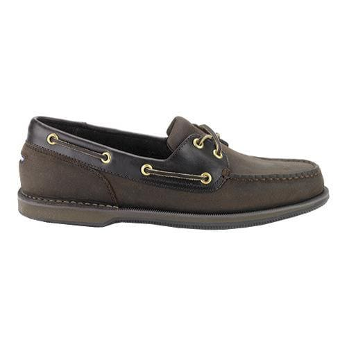 Men's Rockport Perth Boat Shoe, Size: 15 M, Chocolate/Bark Nubuck