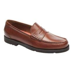 Men's Rockport Modern Prep Penny Loafer Dark Tan Leather