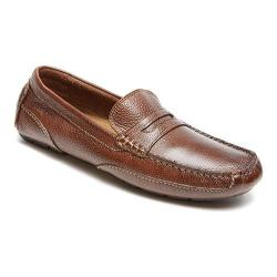 Men's Rockport Oaklawn Park Penny Brown Leather