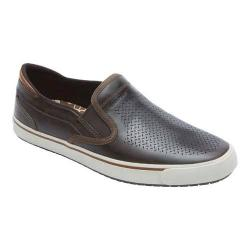 Men's Rockport Path to Greatness Slip On Dark Brown Leather
