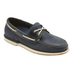 Men's Rockport Perth Loafer Navy Leather/Nubuck