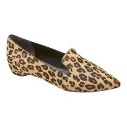 Women's Rockport Total Motion 30MM Smoking Loafer Brown Leopard Hair On
