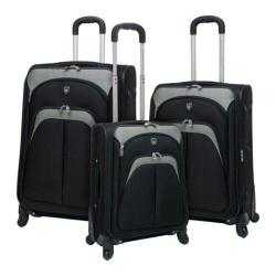 Travelers Club Lexington 3 Piece Expandable Luggage Set Black
