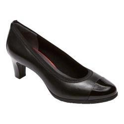 Women's Rockport Total Motion Melora Gore Captoe Shoe Black Burn Calf Leather