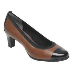 Women's Rockport Total Motion Melora Gore Captoe Shoe Black/Nutella Burn Calf Leater