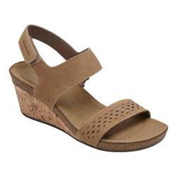 Women's Rockport Total Motion Taja Quarter Strap Sandal Camel Cas Suede