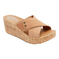 Women's Rockport Weekend Casuals Lanea Cross Slide Tan Suede