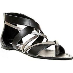 Women's Steve Madden Honore Strappy Sandal Black Leather/Synthetic