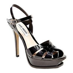 Women's Steve Madden Kananda Platform Sandal Black Patent Leather