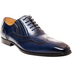 Men's Steve Madden Masque Wing Tip Oxford Blue Leather