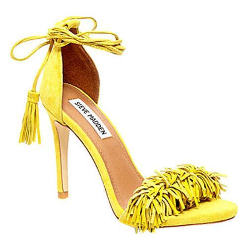 cfb29ba3d71f Shop Women s Steve Madden Sassey Lace Up Sandal Yellow Suede - Free  Shipping Today - Overstock - 11946698