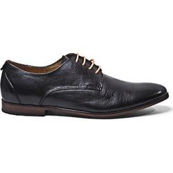 Men's Steve Madden Trotter Plain Toe Oxford Black Leather