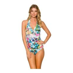 Women's Sunsets Harlow Halterkini w/ Molded Cups Enchanted Garden