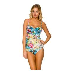 Women's Sunsets Underwire Bandeau Tankini Enchanted Garden