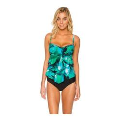 Women's Sunsets Underwire Bandeau Tankini with Foam Bra Night Breeze