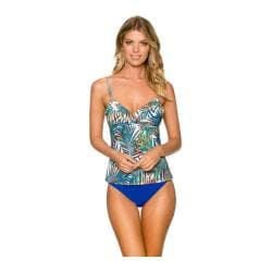Women's Sunsets Shirred Tankini with Removable Cups Palmera