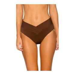 Women's Sunsets V-Front High Waist Swim Bottom Java