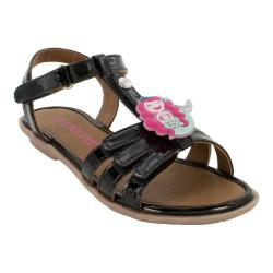 Girls' Bumbums & Baubles Abby T-Strap Sandal Black Polyurethane
