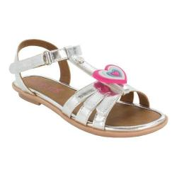 Girls' Bumbums & Baubles Abby T-Strap Sandal Silver Polyurethane