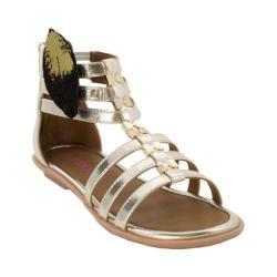Girls' Bumbums & Baubles Athena Gladiator Sandal Gold Polyurethane