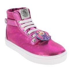 Girls' Bumbums & Baubles Brooklyn High Top Fuchsia Polyurethane