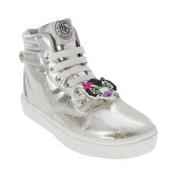 Girls' Bumbums & Baubles Brooklyn High Top Silver Polyurethane
