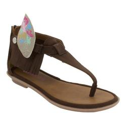 Girls' Bumbums & Baubles Sienna T-Strap Sandal Brown Polyurethane