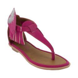 Girls' Bumbums & Baubles Sienna T-Strap Sandal Fuchsia Polyurethane