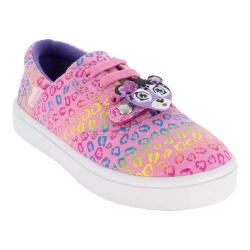 Girls' Bumbums & Baubles Spencer Sneaker Rainbow Cheetah Canvas