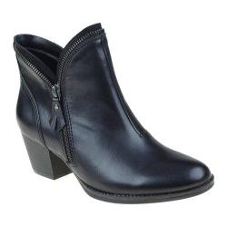 Women's Earth Hawthorne Bootie Black Calf Leather