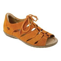 Women's Earth Plover Ghillie Shoe Orange Nubuck