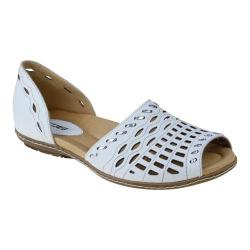 Women's Earth Shore White Full Grain Leather