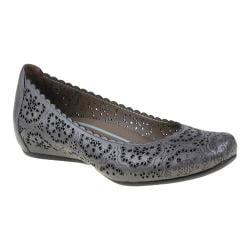 Women's Earthies Bindi Dark Grey Silk Leather