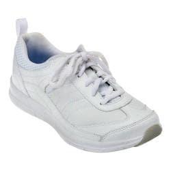 Women's Easy Spirit South Coast Walking Shoe White/Light Blue Leather