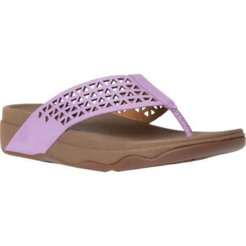 12ae56efa Shop Women s FitFlop Leather Lattice Surfa Thong Sandal Dusty Lilac - Free  Shipping Today - Overstock - 11965301