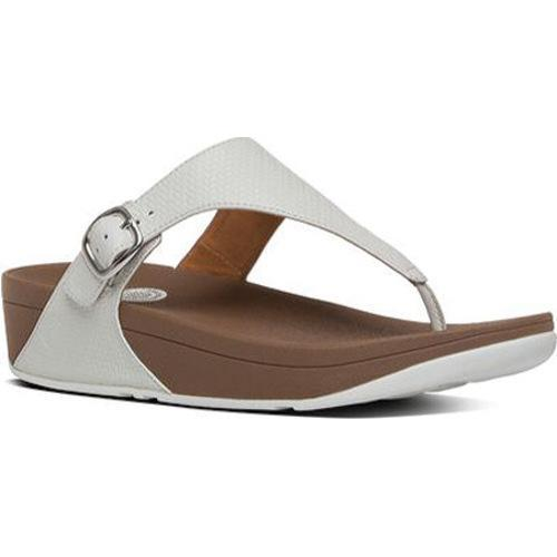 cbe394d54860 Shop Women s FitFlop The Skinny Thong Sandal Urban White - Free Shipping  Today - Overstock - 11965370