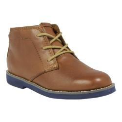 Boys' Florsheim Bucktown Chukka Jr. Cognac/Navy Smooth Leather